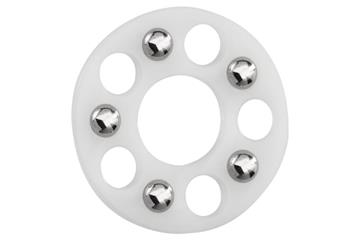 xiros® thrust washer, SL, xirodur B180, balls made of stainless steel, slim Line, mm