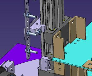 Micro switches on vertical transport system for determining height