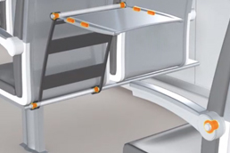 drylin® linear technology and iglidur® plain bearings in the passenger area