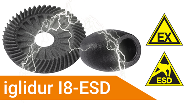 3D printed parts made of ESD material