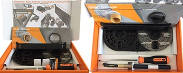 Sample box for the construction machinery industry