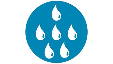 Icon for splash water contact